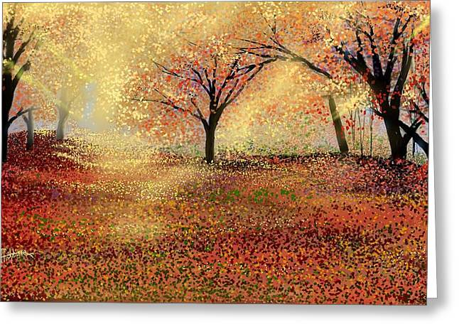 Greeting Card featuring the digital art Autumn's Colors by Anthony Fishburne