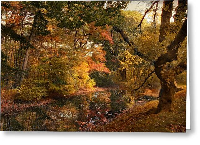 Autumn's Edge Greeting Card by Jessica Jenney