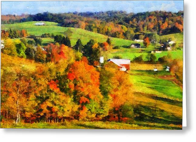 Autumn's Glory Enters The Ohio Valley Greeting Card by Dan Sproul
