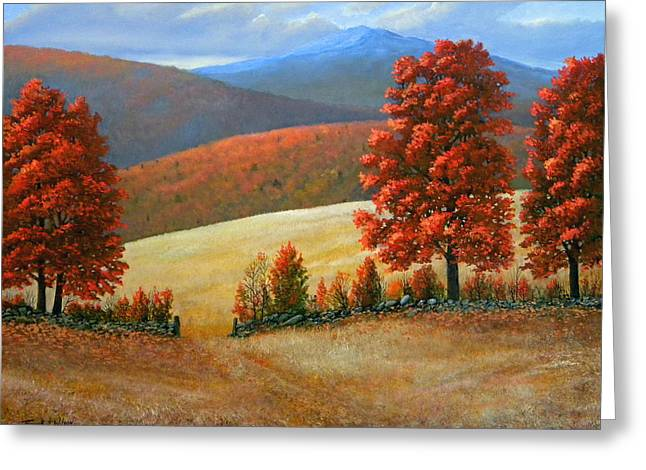 Autumns Glory Greeting Card by Frank Wilson