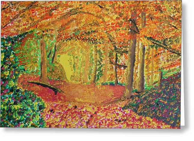 Autumn's Light Greeting Card