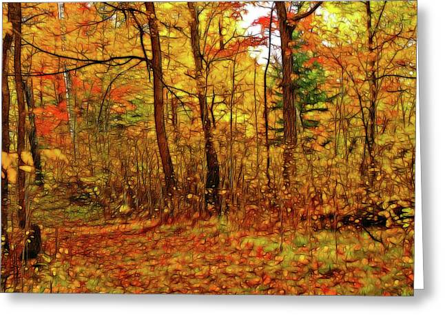 Autumn's Magic Greeting Card by Bill Morgenstern
