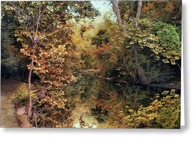 Autumn's Mirror Greeting Card by Jessica Jenney
