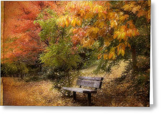 Autumn's Repose Greeting Card by Jessica Jenney