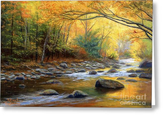 Autumn's Song Greeting Card by Asa Gochenour