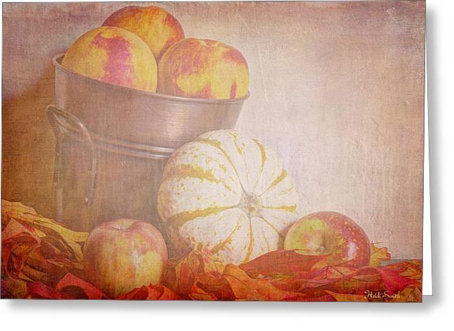 Autumn's Treats Greeting Card by Heidi Smith