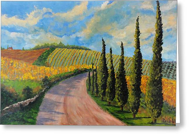 Autunno Toscano Greeting Card