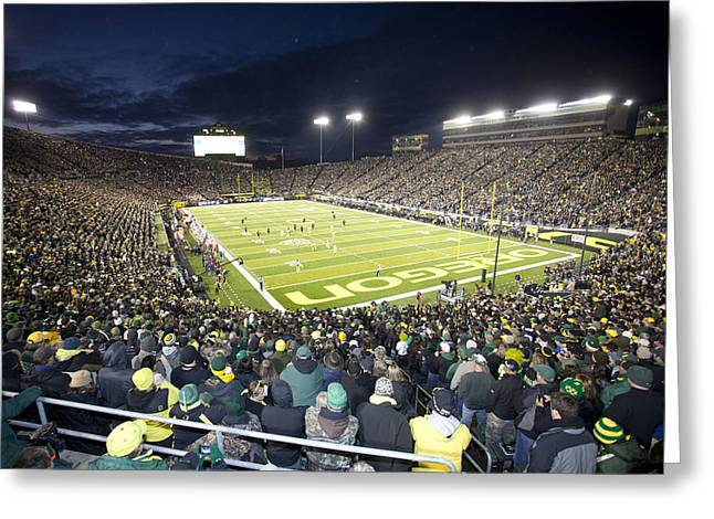 Autzen Stadium Greeting Card