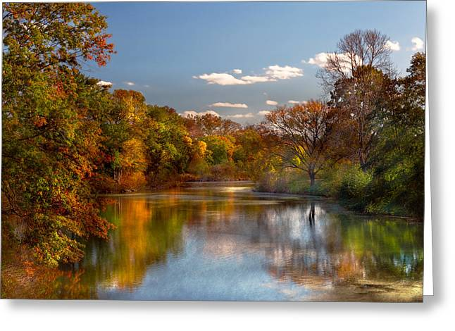 Autumn - Hillsborough Nj - Painted By Nature Greeting Card by Mike Savad