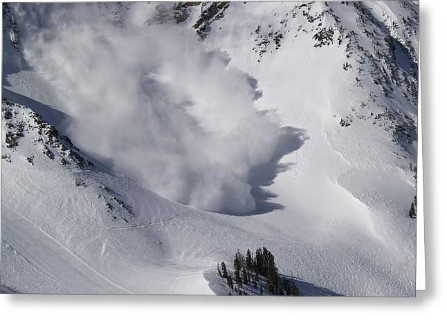 Avalanche Iv Greeting Card