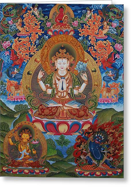 Avalokitesvara The Great Compassionate One Greeting Card by Art School