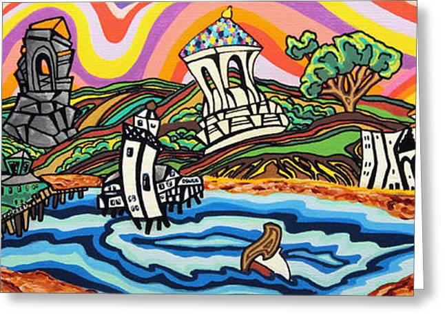 Avalon Bay Greeting Card by Carlos Martinez