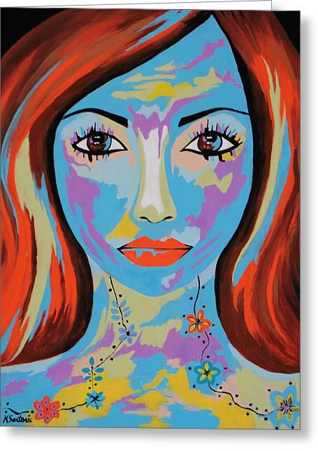 Avani - Contemporary Woman Art Greeting Card