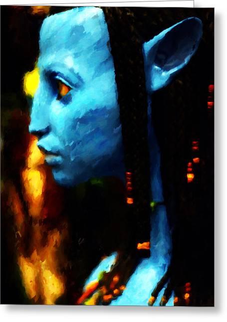 Avatar Figure Greeting Card