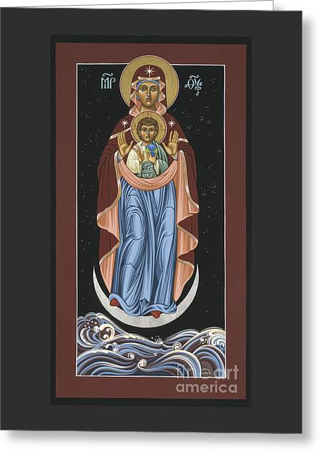 Greeting Card featuring the painting Ave Maris Stella  Hail Star Of The Sea 044 by William Hart McNichols