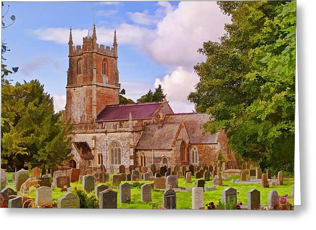 Greeting Card featuring the photograph Avebury Church -1 by Paul Gulliver