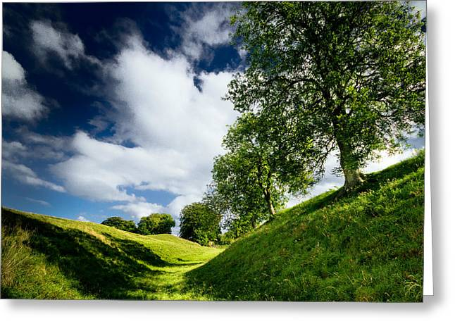 Avebury Hillside Greeting Card by Julian Cook