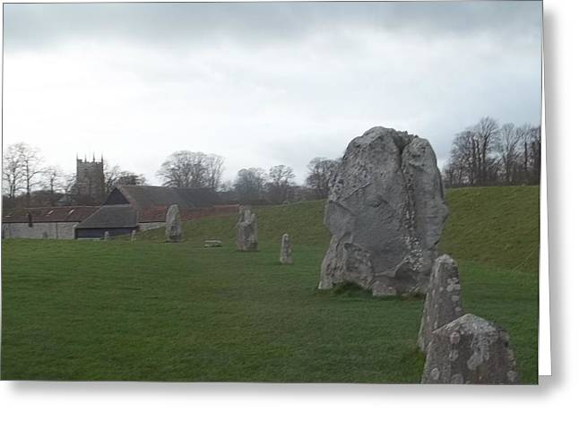 Avebury Stone Henge Greeting Card