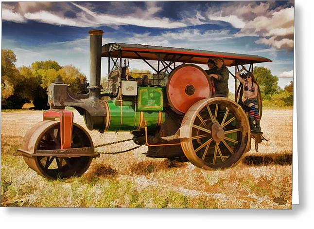 Greeting Card featuring the photograph Aveling Porter Road Roller by Paul Gulliver