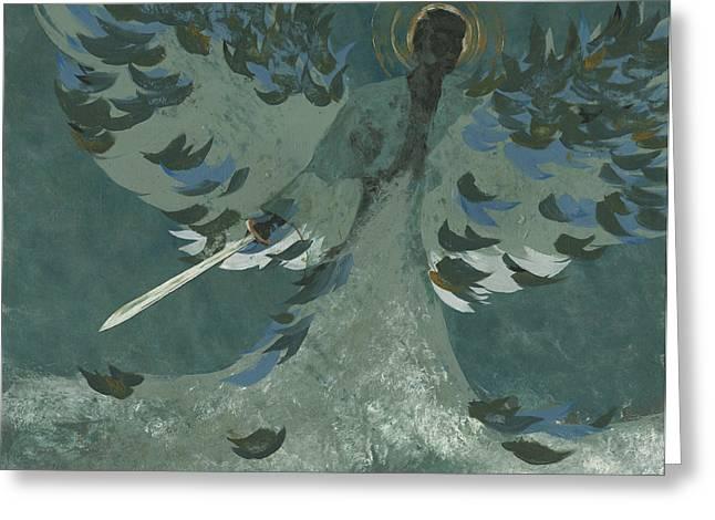 Avenging Angel Greeting Card by John Wyckoff