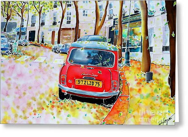 Avenue Junot In Autumn Greeting Card