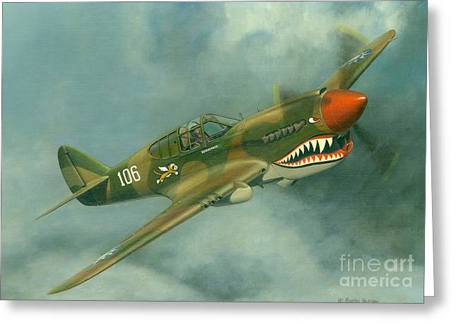 Avg Flying Tiger Greeting Card by Michael Swanson