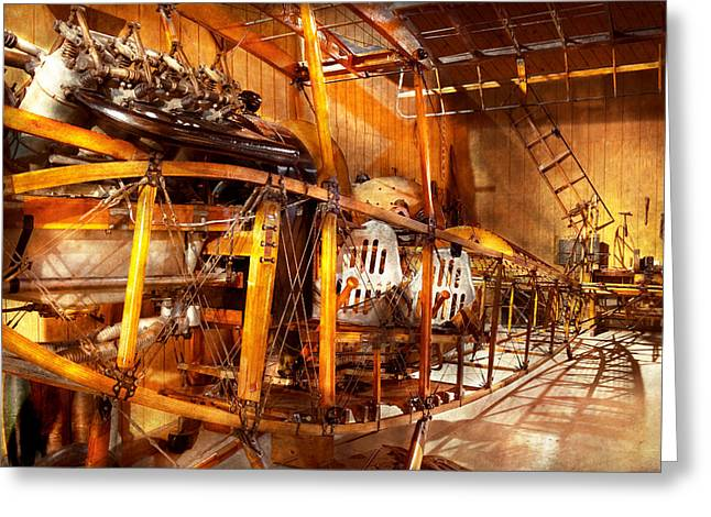 Aviation - Early Days Of Aviation Greeting Card by Mike Savad
