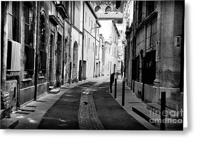 Avignon Empty Street Greeting Card by John Rizzuto
