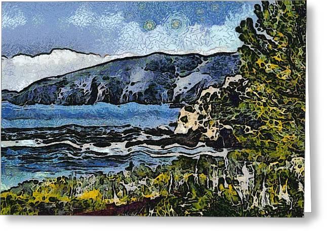 Avila Bay California Abstract Seascape Greeting Card by Barbara Snyder