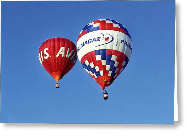Greeting Card featuring the photograph Avis Balloon by John Swartz