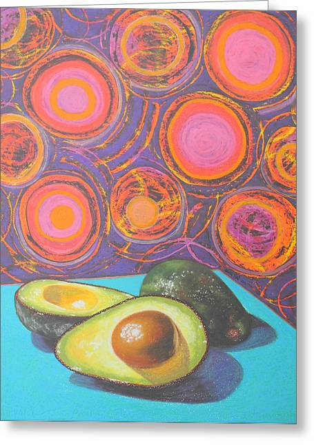 Avocado Delight Greeting Card by Adel Nemeth