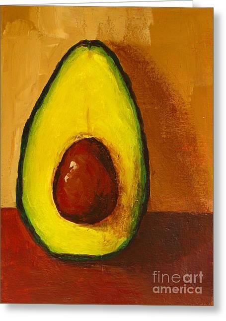 Avocado Palta 7 - Modern Art Greeting Card