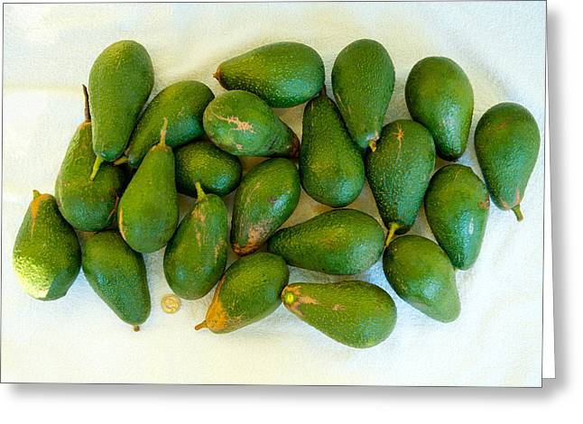 Avocados In A Bunch, Santa Paula Greeting Card
