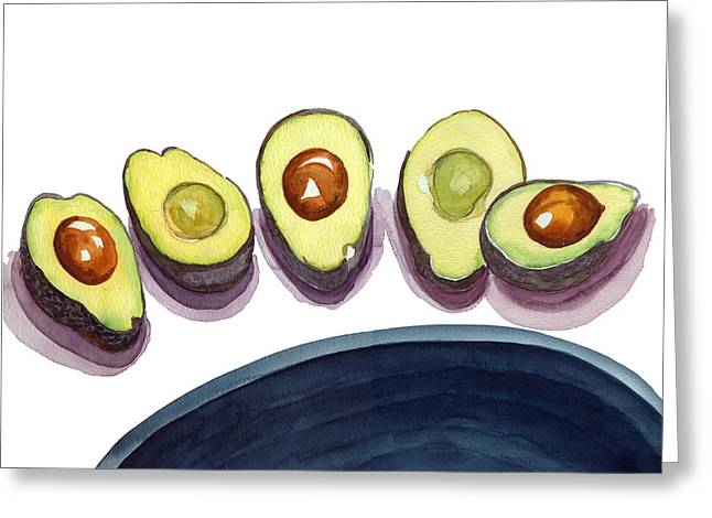 Avocados Greeting Card