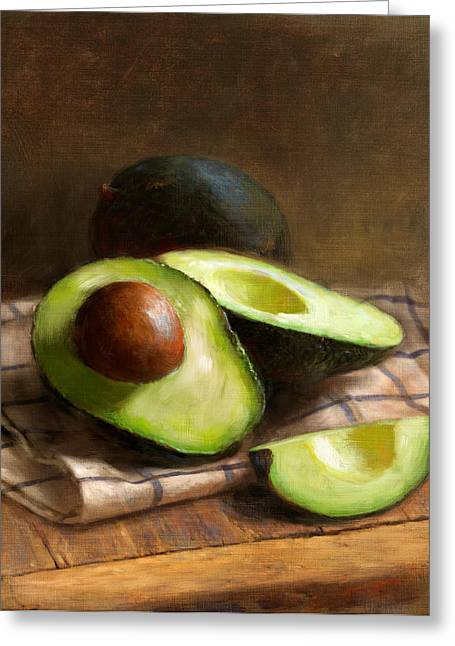 Avocados Greeting Card by Robert Papp