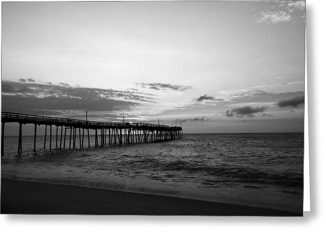 Avon Pier In Outer Banks Nc Greeting Card by Kelly Hazel