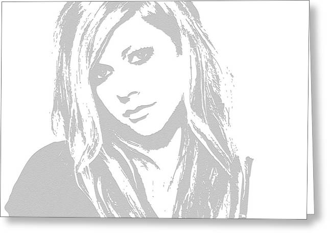 Avril Lavigne Greeting Card