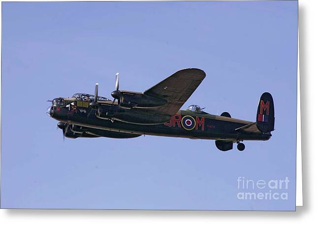 Avro 638 Lancaster At The Royal International Air Tattoo Greeting Card by Paul Fearn
