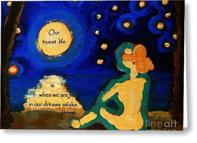 Awake In Our Dreams  Greeting Card by Janet McDonald