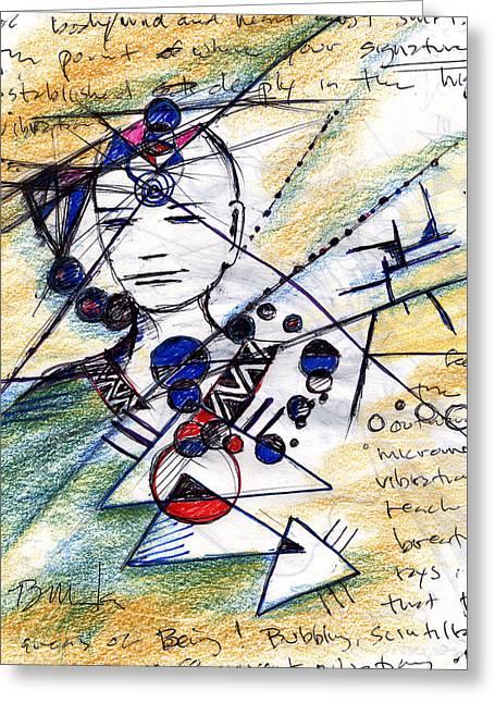 Awake In The Dream Greeting Card by Bruce Manaka