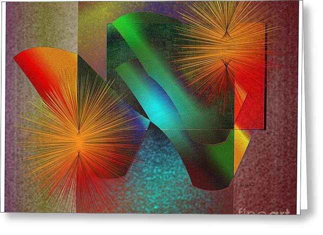 Greeting Card featuring the digital art Awake by Iris Gelbart