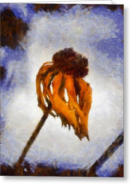 Greeting Card featuring the painting Awaken A New Life by Joe Misrasi