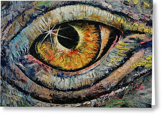 Awakened Dragon Greeting Card by Michael Creese