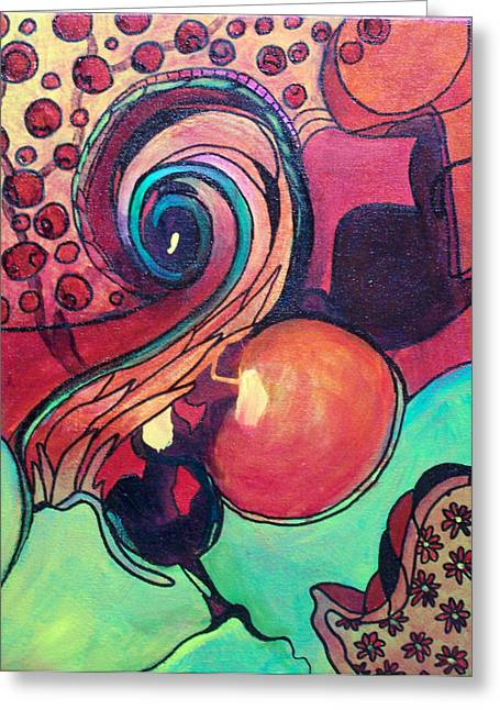 Awakened Spiral Greeting Card by MtnWoman Silver