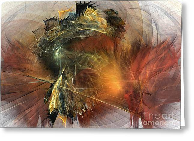 Awakening-abstract Art Greeting Card by Karin Kuhlmann