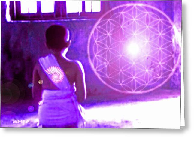 Awakening Greeting Card by Ellen Vaman