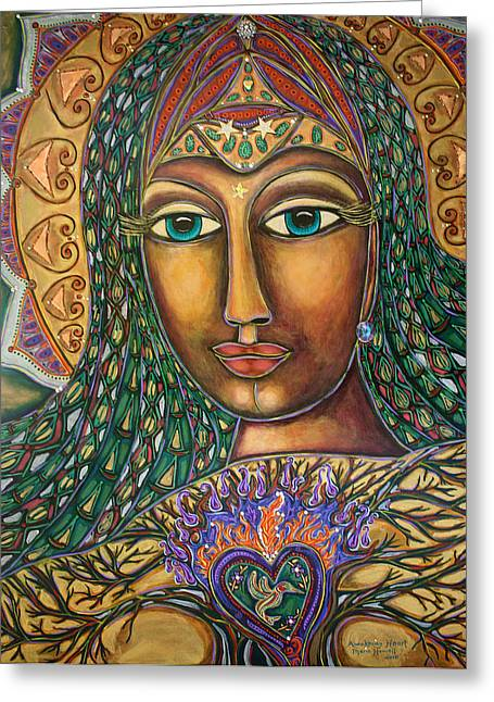 Awakening Heart Greeting Card by Marie Howell Gallery