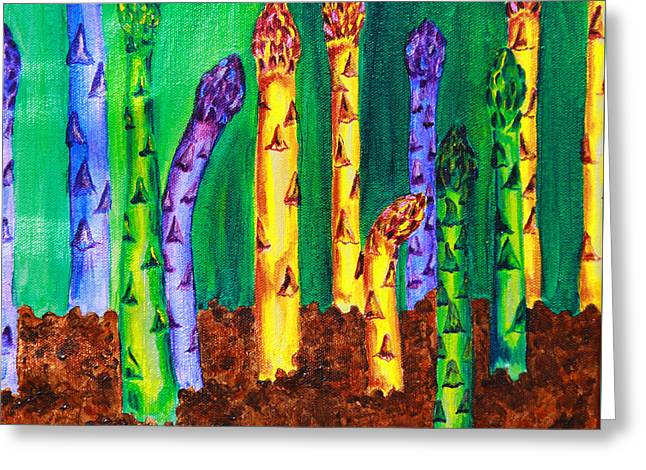 Awesome Asparagus Greeting Card
