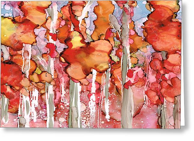 Awesome Autumn Greeting Card by Rosie Brown