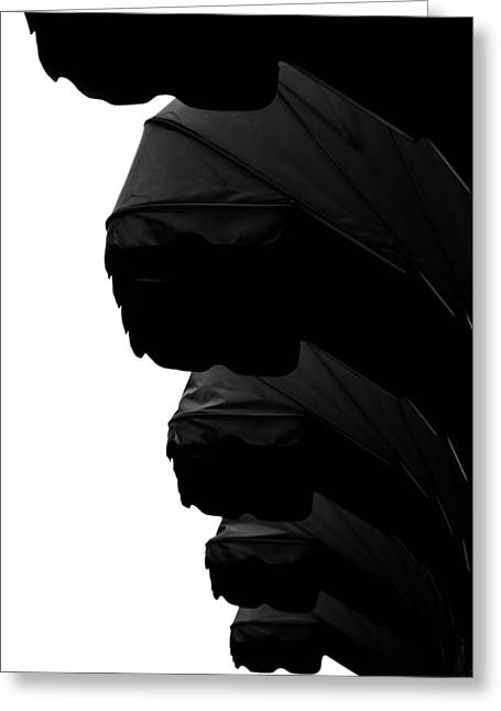 Awnings In Black Greeting Card